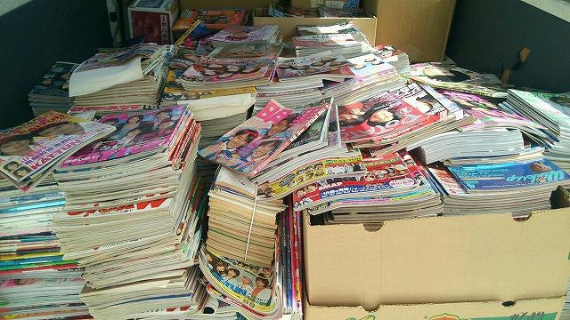 浜松市西区 出張買取 SMAP、関ジャニ 明星、ポポロ、デュエットなど1,500冊買取